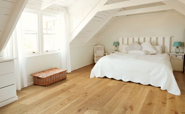 Hardwood Floor Small Bedroom
